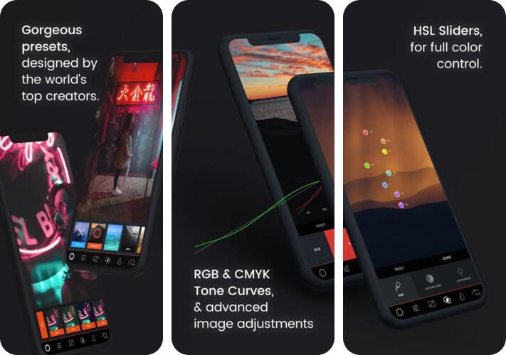MuseCam RAW Photo Editing iPhone and iPad App Screenshot