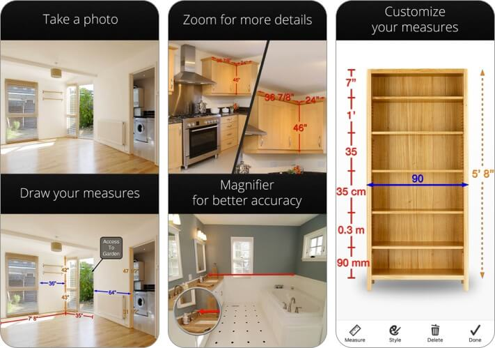 Photo Measures iPhone and iPad Interior Design App Screenshot