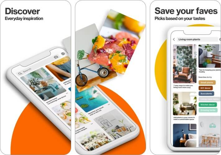 Pinterest iPhone and iPad App Screenshot