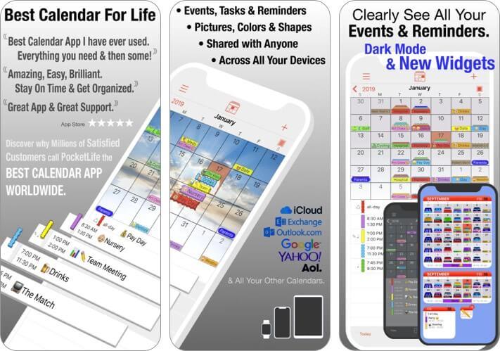 PocketLife Calendar iPhone and iPad App Screenshot