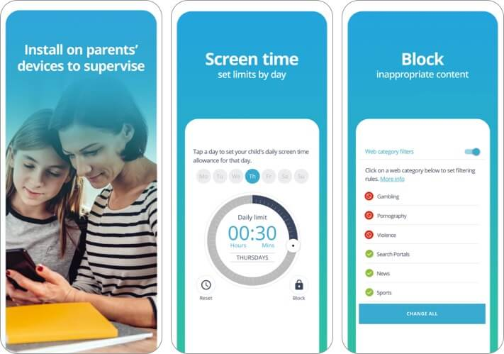 Qustodio iPhone and iPad Parental Control App Screenshot