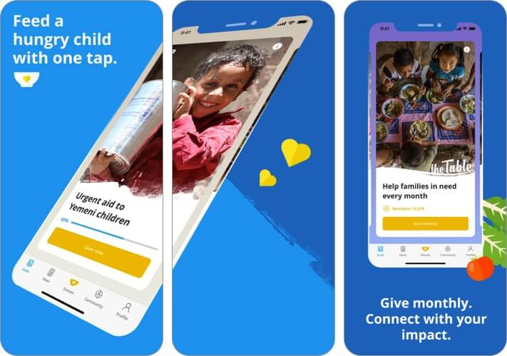 ShareTheMeal iPhone and iPad App Screenshot