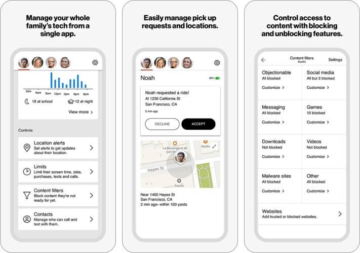 Verizon Smart Family iPhone and iPad Parental Control App Screenshot
