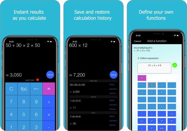 Xmart Calculator Pro iPhone and iPad App Screenshot
