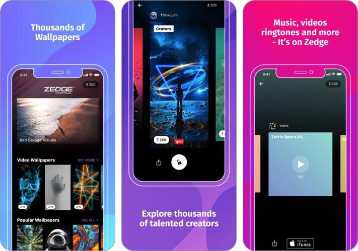 ZEDGE Wallpapers iPhone and iPad App Screenshot