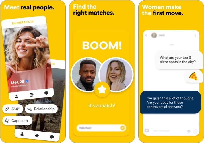 Bumble Friendship App for iPhone