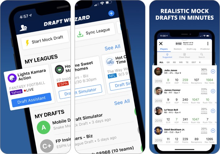 Fantasy Football Draft Wizard NFL App for iPhone and iPad
