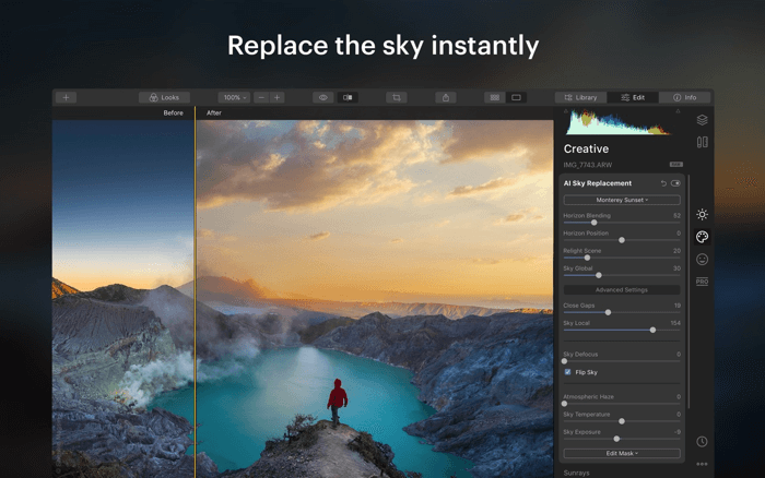 Luminar Photo Editing App for Mac Screenshot