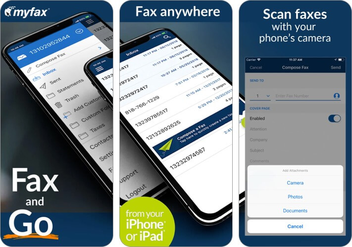 MyFax App for iPhone and iPad Screenshot