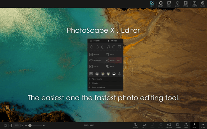 PhotoScape X Photo Editing App for Mac Screenshot