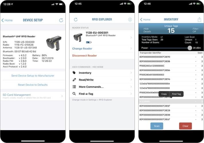 RFID Explorer iPhone and iPad App