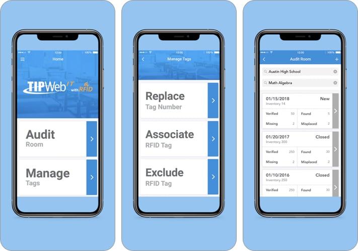 TIPWeb-IT with RFID iPhone and iPad App