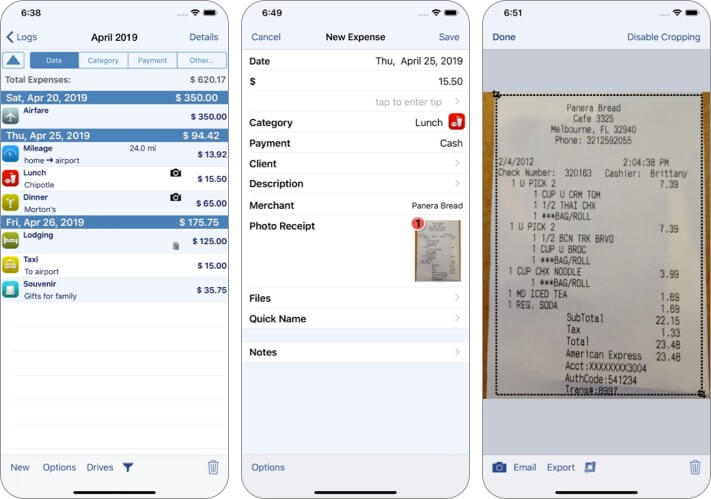 XpenseTracker Expense Tracking iPhone and iPad App Screenshot