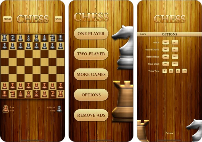 Chess iPhone and iPad Game Screenshot
