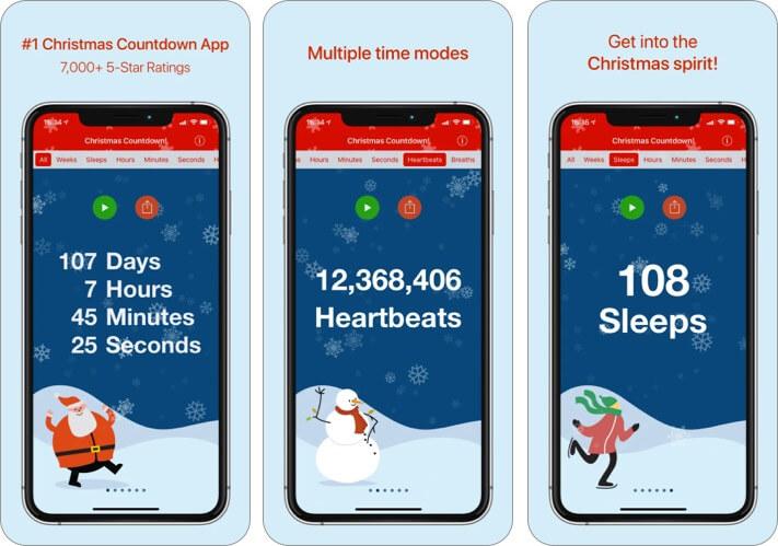 Christmas Countdown iPhone and iPad App Screenshot