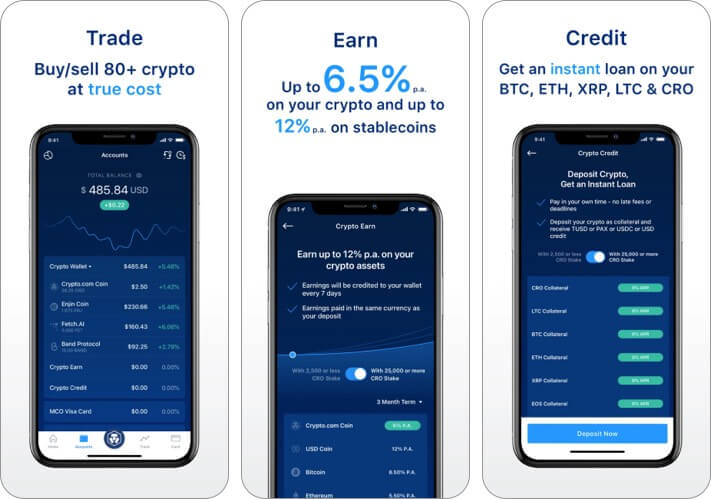Crypto.com Cryptocurrency iPhone and iPad App Screenshot