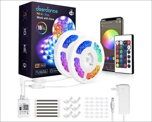 Deerdance Smart Led Strip Lights With Music Sync
