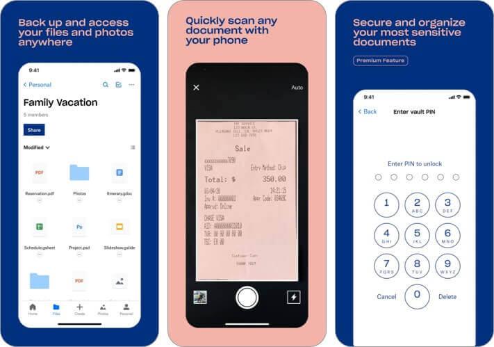 dropbox iPhone and iPad App Screenshot