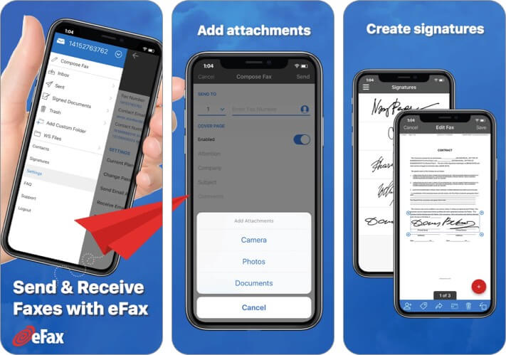 eFax App for iPhone and iPad Screenshot