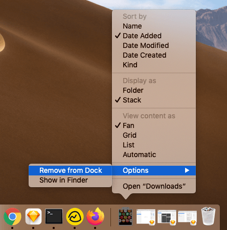 How to Remove Downloads Folder from Mac Dock