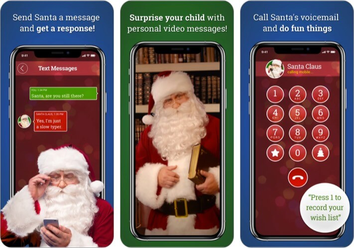 Message from Santa Tracker app for iPhone and iPad