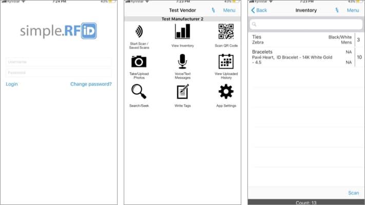 simple RFID iPhone and iPad App