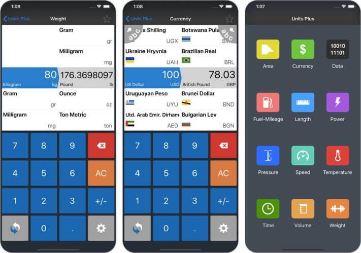 unit converter iPhone and iPad App Screenshot