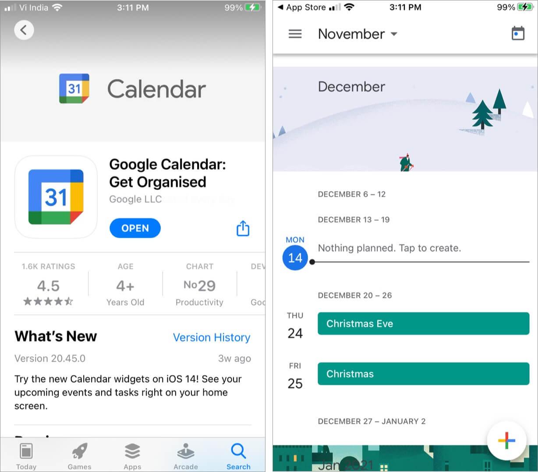 Use Official Google Calendar iOS App
