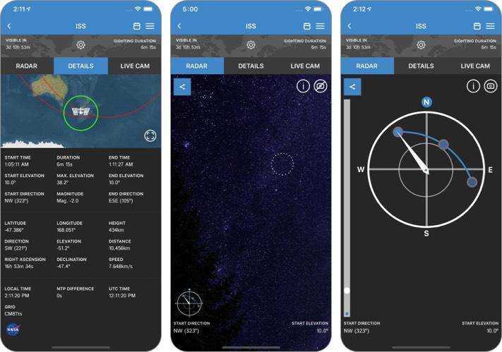 ISS Detector Stargazing iPhone and iPad App screenshot