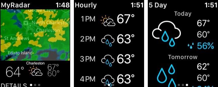MyRadar Weather Radar Apple Watch App Screenshot