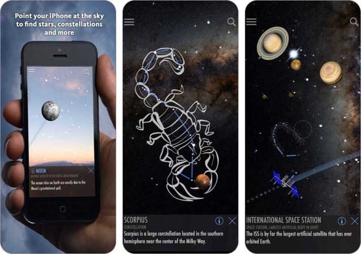 SkyLite Stargazing iPhone and iPad App screenshot