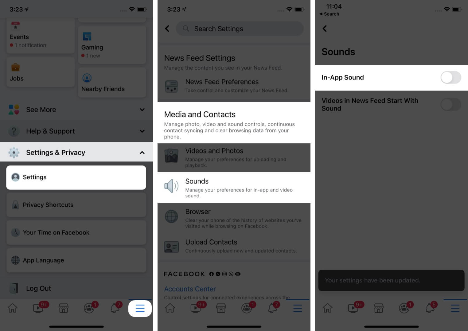 Turn off Facebook's sound effects on your iPhone and iPad