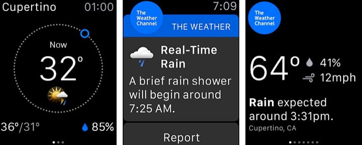 Weather - The Weather Channel Apple Watch App Screenshot
