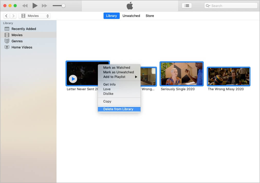 Delete reference files inside iTunes