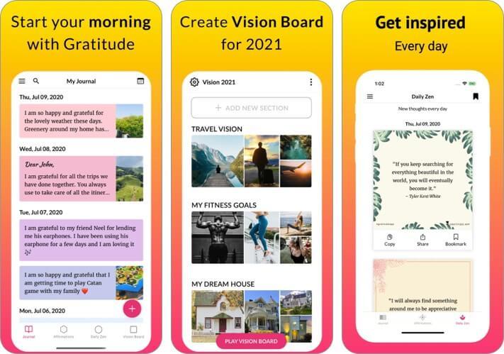 Dankbarkeitstagebuch iPhone und iPad App Screenshot
