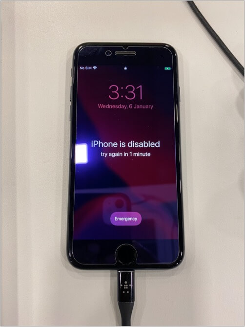 How a Disabled iPhone Looks