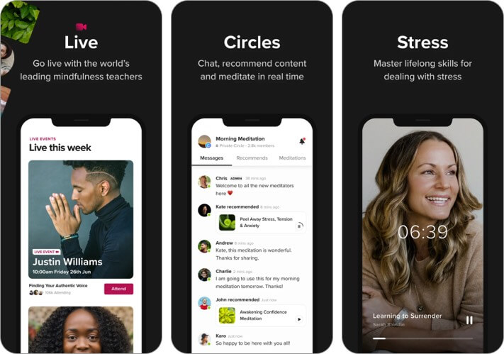 Insight Timer iPhone und iPad App Screenshot