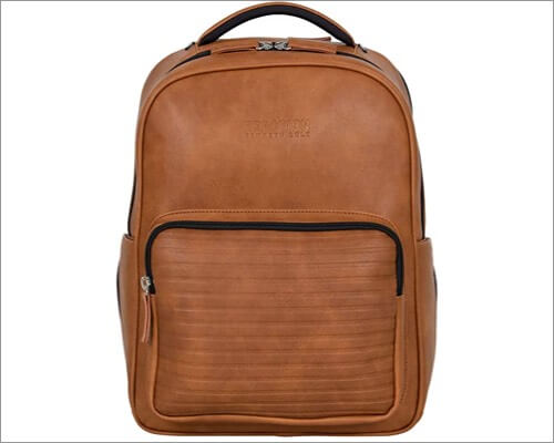 Kenneth Cole Anti-Theft Vegan Leather MacBook Backpack