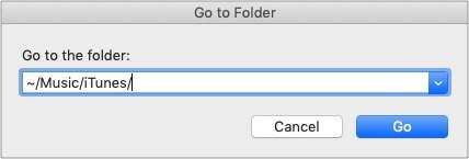 Open iTunes Media folder