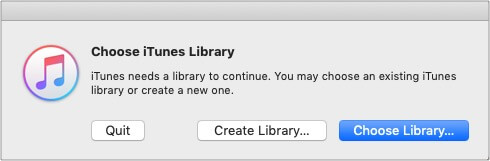 Press and hold option key launch iTunes and choose Create Library