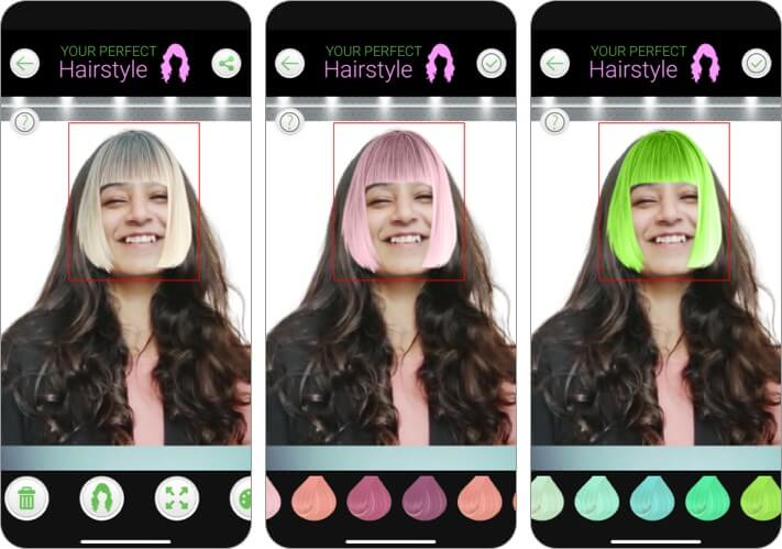 your perfect hairstyle hairstlying app for iPhone and iPad screenshot