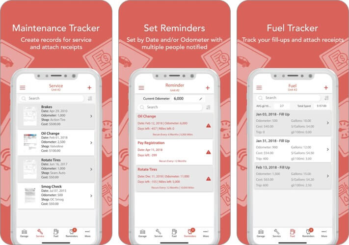 Скриншот приложений для обслуживания автомобилей iPhone AutoSIST