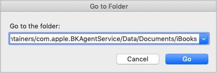 Введите код, чтобы найти расположение библиотеки iBooks на Mac