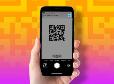 How to scan a QR code on iPhone
