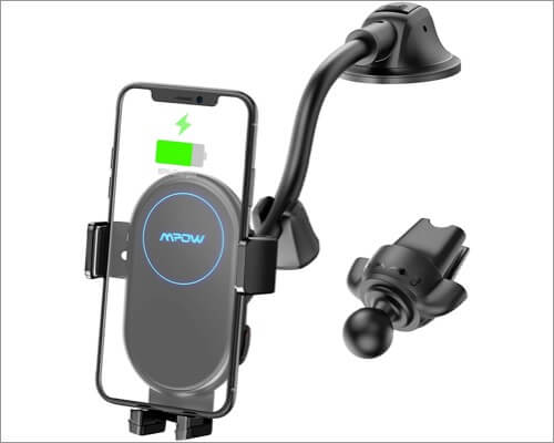 MPow Car Mount Wireless Charger iPhone Car Accessory