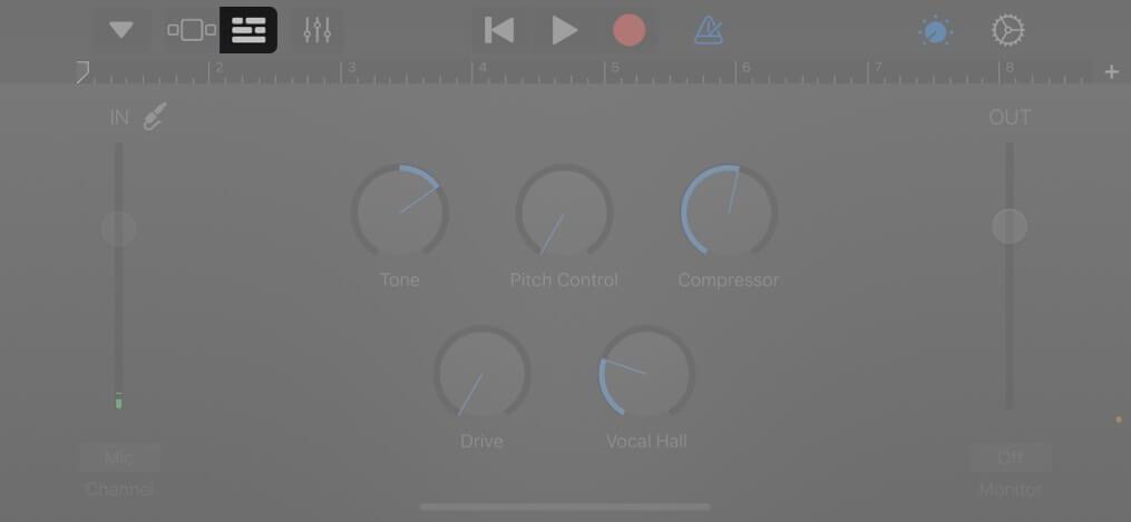 Tippen Sie auf Ansicht, um den Bearbeitungsbereich auf dem iPhone aufzurufen