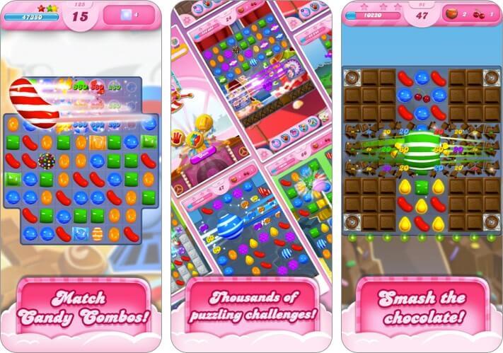 Candy Crush Saga iPhone Spiel Screenshot