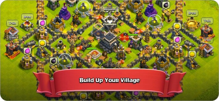 Clash of Clans iPhone Spiel Screenshot