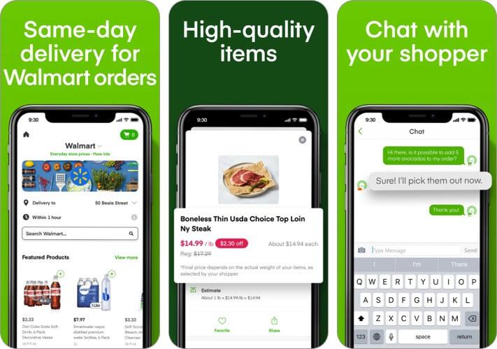 Скриншот приложения для iPhone и iPad с доставкой продуктов instacart
