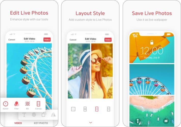 intolive Best Live Wallpaper Making App für das iPhone